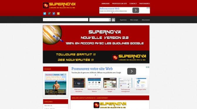 www.supernova-annuaire.com: annuaire de référencement de qualité